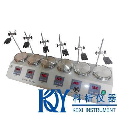 HJ-6HJ-6A型六頭磁力加熱恒溫攪拌器(多頭磁力攪拌)科析儀器數顯