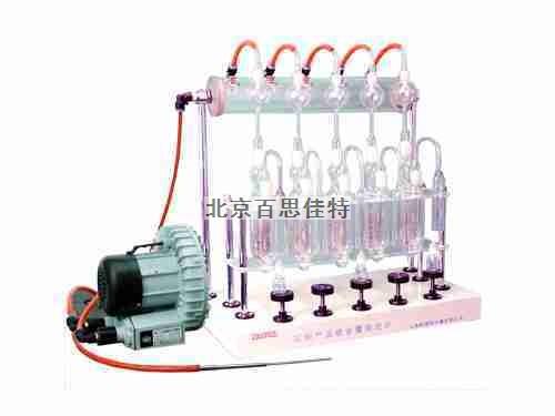 石油产品硫含量测定仪(三管带抽气泵)
