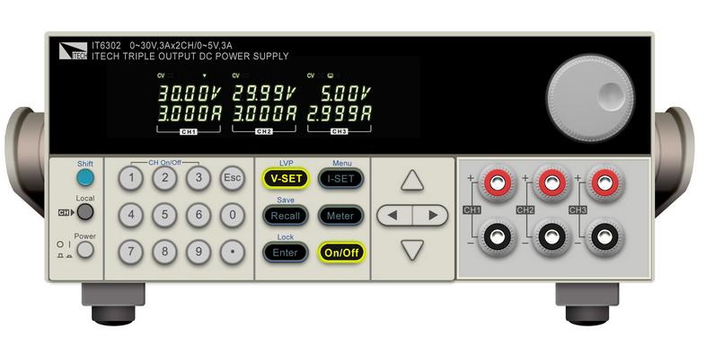 艾德克斯可编程三路线性电源供应器IT6302