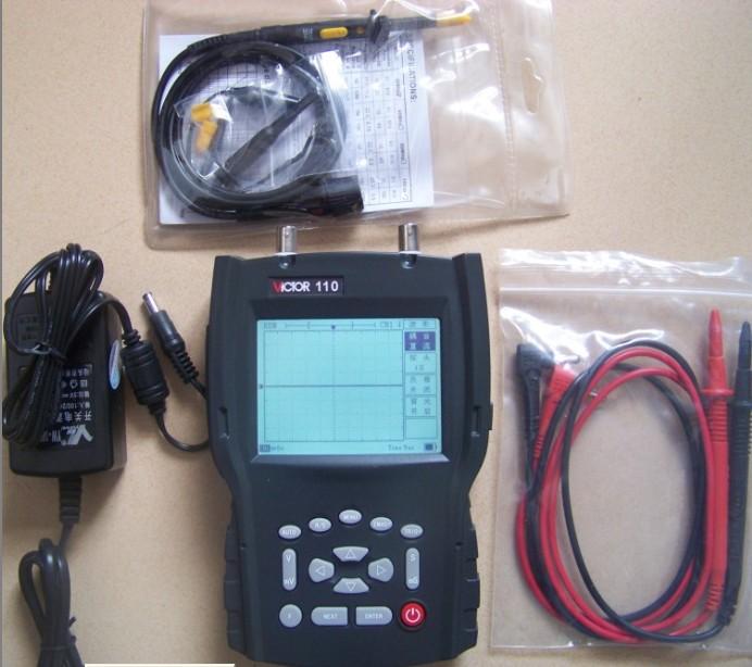 VICTOR110胜利手持式示波表VICTOR-110手持式数字存储示波表VICTOR 110单色20M手持示波器VC110