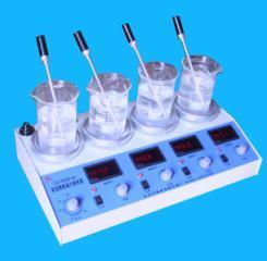 四联磁力恒温搅拌器
