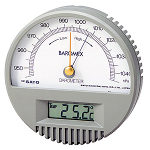 7612-00日本SATO佐藤大气压附带温度计
