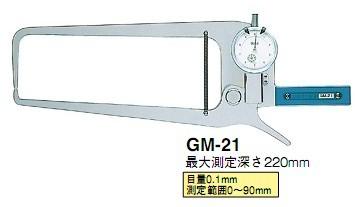 日本得乐TECLOCK外径卡规GM-21